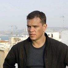 Matt Damon in una scena drammatica del film The Bourne Ultimatum