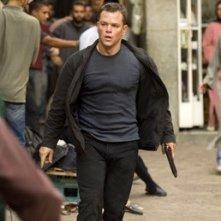 Matt Damon in una scena del film The Bourne Ultimatum