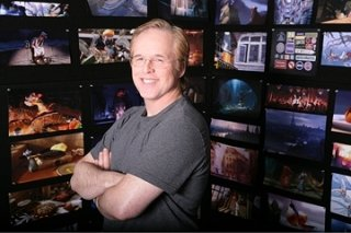 Brad Bird sul 'set' di Ratatouille