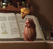 Uno degli irresistibili protagonisti del film Ratatouille