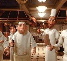 Una scena dello straordinario film d'animazione Ratatouille