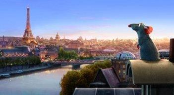Una Parigi da sogno fa da scenario al film Ratatouille