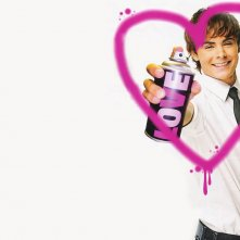 Wallpaper romantico di Zac Efron