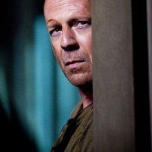 Bruce Willis in una scena del film Live Free or Die Hard del 2007