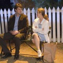 Keri Russell e Nathan Fillion in una foto di scena del film Waitress