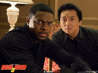 Wallpaper del film Rush Hour - Missione Parigi, con Chris Tucker e Jackie Chan
