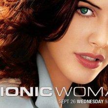 Un poster con sviluppo orizzontale della serie Bionic Woman