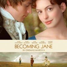 Wallpaper del film Becoming Jane - Il ritratto di una donna contro con la Hathaway
