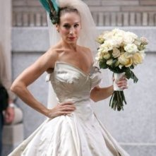 Sarah Jessica Parker in abito da sposa sul set del film di Sex and the City