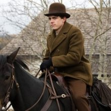 Casey Affleck in una scena del film The Assassination of Jesse James