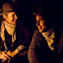 Jeremy Renner e Sam Rockwell in un'immagine de L'assassinio di Jesse James