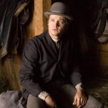 Jeremy Renner in una scena de L'assassinio di Jesse James
