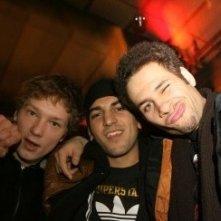 Berlinale 2006: Elyas M'Barek insieme a Jakob Matschenz e Mike Adler presenta Wholetrain