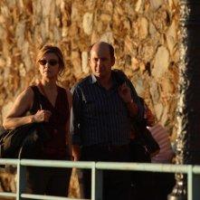 Albanese con Margherita Buy in una sequenza del film Giorni e nuole