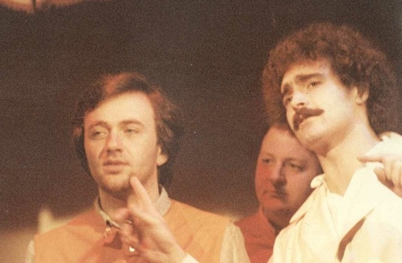 Abatantuono con Faletti e Boldi ai tempi delle esibizioni al 'Derby' di Milano