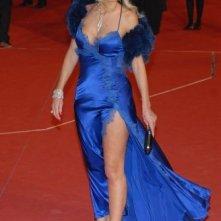 Festa del Cinema di Roma 2007: Valeria Marini in blu elettrico
