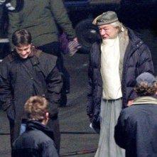 Daniel Radcliffe e Michael Gambon sul set di Harry Potter e il principe mezzosangue
