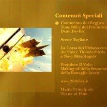 La schermata dei contenuti speciali di Giovani Aquile - Flyboys