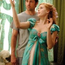 Amy Adams e Patrick Dempsey in una scena della commedia musicale Come d'incanto