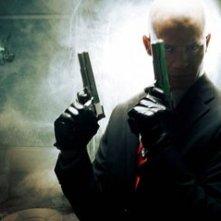 Timothy Olyphant sul set del film Hitman - l'assassino