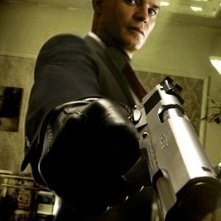 Timothy Olyphant sul set del film Hitman