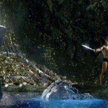 Una scena del film La leggenda di Beowulf