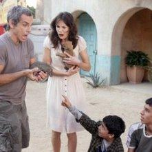 Ben Stiller e la bella Michelle Monaghan in un'immagine del film Lo spaccacuori.