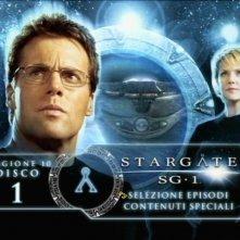 Stargate SG-1, stagione 10: la schermata del menù del primo disco