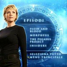 Stargate SG-1, stagione 10: la schermata di selezione episodi del disco 1