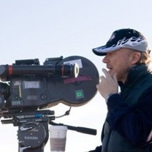 Paul Haggis e Charlize Theron sul set di In the Valley of Elah