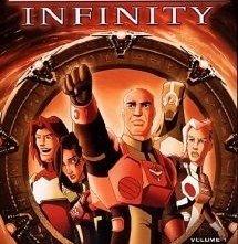 La copertina DVD di Stargate Infinity