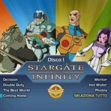 La schermata dei titoli del primo disco di Stargate Infinity