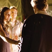 Michael Stahl-David e Jessica Lucas in Cloverfield