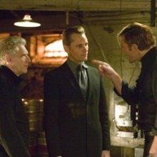 David Cronenberg, Viggo Mortensen e Vincent Cassel sul set de La promessa dell'assassino
