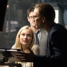Nicolas Cage con Diane Kruger e Justin Bartha in una sequenza del film National Treasure 2: Il Mistero delle pagine perdute
