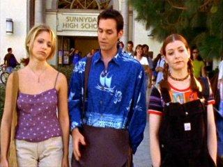 Sarah Michelle Gellar, Alyson Hannigan e Nicholas Brendon nell'episodio 'Un avversario pericoloso' di Buffy - L'ammazzavampiri