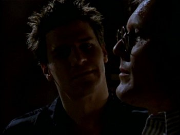 David Boreanaz e Anthony Head in una sequenza dell'episodio 'L'inizio della storia (2ª parte)' della seconda stagione di Buffy - L'ammazzavampiri