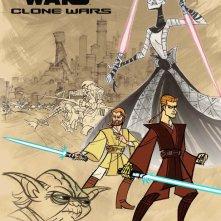 La locandina di Clone Wars