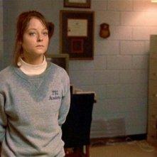Jodie Foster in una scena de IL SILENZIO DEGLI INNOCENTI.