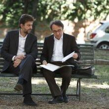 Nanni Moretti e Silvio Orlando in una scena di Caos Calmo