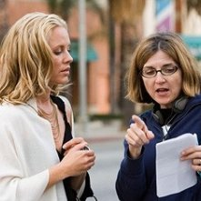 Maria Bello e Robin Swicord sul set del film Il club di Jane Austen
