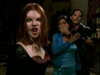 Nicholas Brendon, Alyson Hannigan e Charisma Carpenter in una scena dell'episodio 'Il desiderio' di Buffy - L'ammazzavampiri