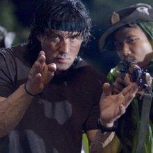 Stallone sul set del film 'John Rambo'