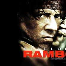 Wallpaper del film John Rambo con S. Stallone