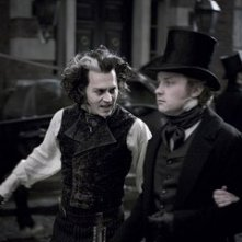 Johnny Depp in una scena del musical Sweeney Todd