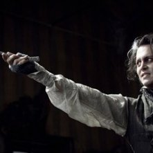 Johnny Depp in una scena di Sweeney Todd