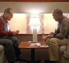 Jack Nicholson con Morgan Freeman in una scena di Non è mai troppo tardi