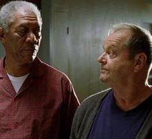 Nicholson con Freeman in una scena di Non è mai troppo tardi (The Bucket List)