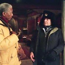 Jack Nicholson accanto a Morgan Freeman in una sequenza di Non è mai troppo tardi