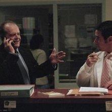 Jack Nicholson con Rob Morrow in una sequenza di Non è mai troppo tardi